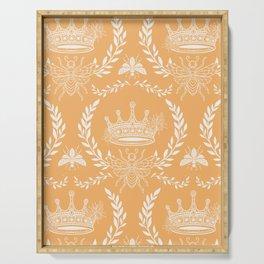 Queen Bee - Royal Crown in Honey Orange Serving Tray
