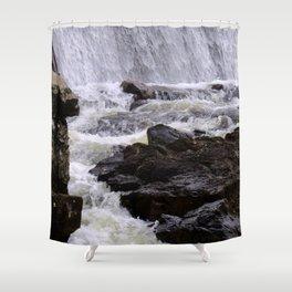 Lowell Tannery Hydro Dam Spring Rush Shower Curtain