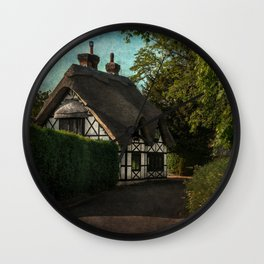 A Berkshire Half Timbered Cottage Wall Clock