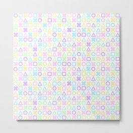 A weird game of pastel tic tac toe 2 Metal Print