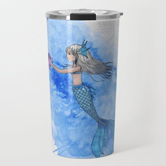 A mermaid and her friend Travel Mug