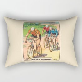 Cyclisme Cyclists Vintage Graphic Cycling Rectangular Pillow