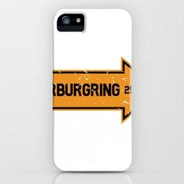 Nürburg Nordschleife B258 racetrack gift iPhone Case
