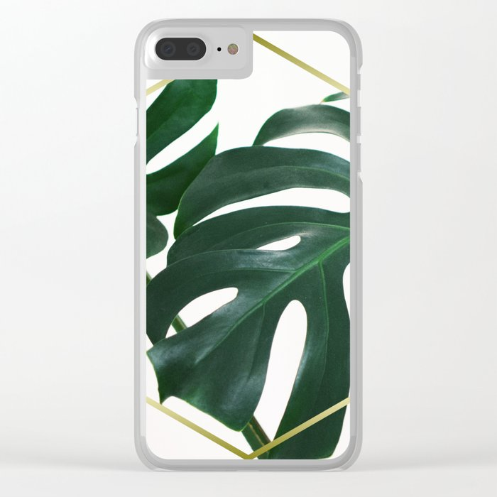 the latest 8737e d4b31 LUXE x Plant Life - Gold white planets lush Clear iPhone Case by  therocketman