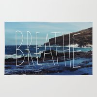 breathe Area & Throw Rugs featuring Breathe by Leah Flores