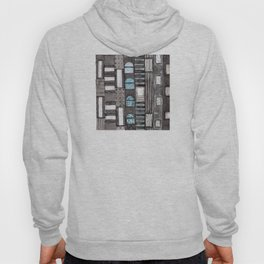 Gray Facade with Lighted Windows Hoody