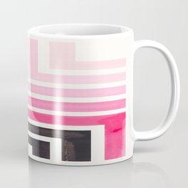 Pink Mid Century Modern Watercolor Colorful Ancient Aztec Art Pattern Minimalist Geometric Pattern Coffee Mug