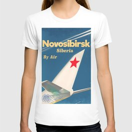 Novosibirsk Siberian vintage soviet union poster T-shirt