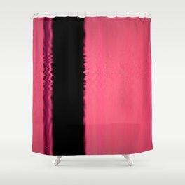 Black n Pink Shower Curtain