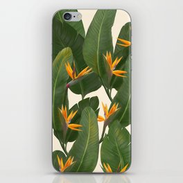 tropical floral iPhone Skin