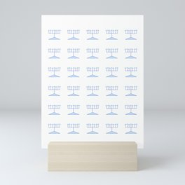 menorah 11 - Hanukkah,jewish,jew,judaism,Festival of Lights,Dedication,jerusalem,lampstand,Temple, מ Mini Art Print