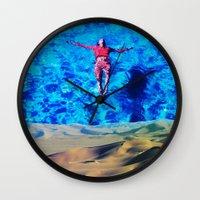 oasis Wall Clocks featuring Oasis by John Turck