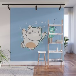 Nevermind Cat Wall Mural