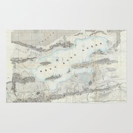 Vintage Map of The Great Salt Lake (1852) Rug