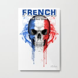 To The Core Collection: France Metal Print