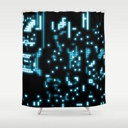 Neon circuits Shower Curtain