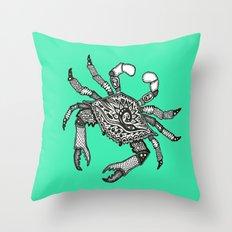 Crab Three Throw Pillow