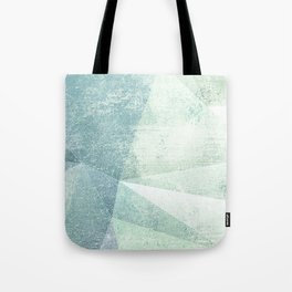 Frozen Geometry - Teal & Turquoise Tote Bag