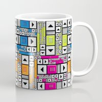 popart Mugs featuring ScrollBar PopArt by Roberlan Borges