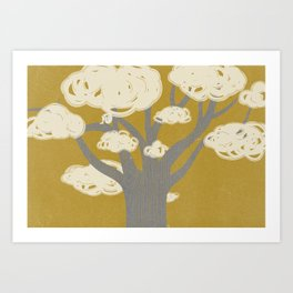 tree clouds Art Print