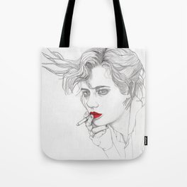 GIRL With The CIGARETTE Tote Bag