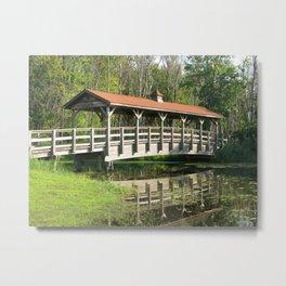 Wetland Footbridge  Metal Print