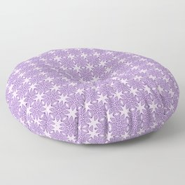 Purple Tribal Motif Pattern Floor Pillow