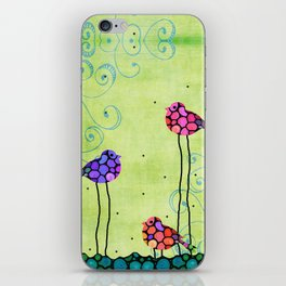 Three Birds - Spring Art By Sharon Cummings iPhone Skin