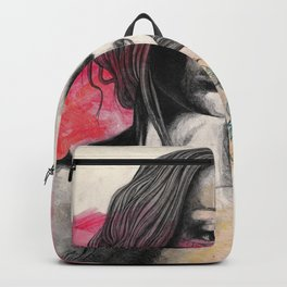 Hexagram (street art elegant lady portrait) Backpack