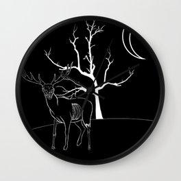 Moon lit hill Wall Clock