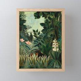 The Equatorial Jungle - Henri Rousseau Framed Mini Art Print