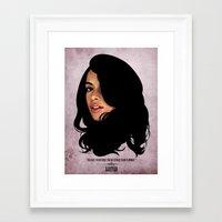 aaliyah Framed Art Prints featuring Aaliyah by Self Toon