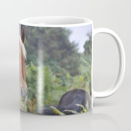 Wild Palomino Flaxen-maned New Forest Horse Coffee Mug