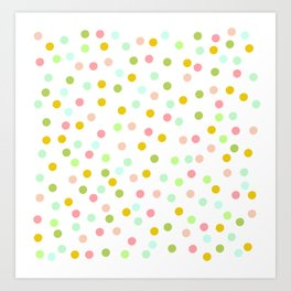 Colorful Polka Dots Art Print