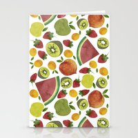 fruits Stationery Cards featuring fruits by Ana Rey