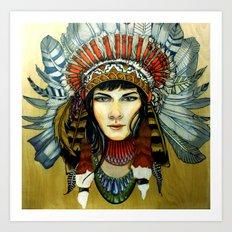 Indian Spirit Girl Art Print