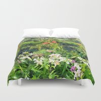 shakespeare Duvet Covers featuring Shakespeare Garden by Bill Jackson