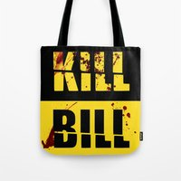 kill bill Tote Bags featuring Kill Bill by Melis Kalpakçıoğlu