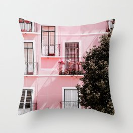 Pink Portals Throw Pillow