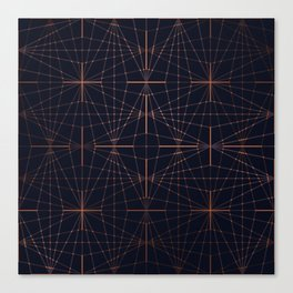 ELEGANT BLACK LILAC GOLD DIAMONDS Canvas Print