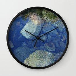 Rocks Under Water I Wall Clock