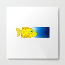 Yellow Fish (Babel Left) Metal Print