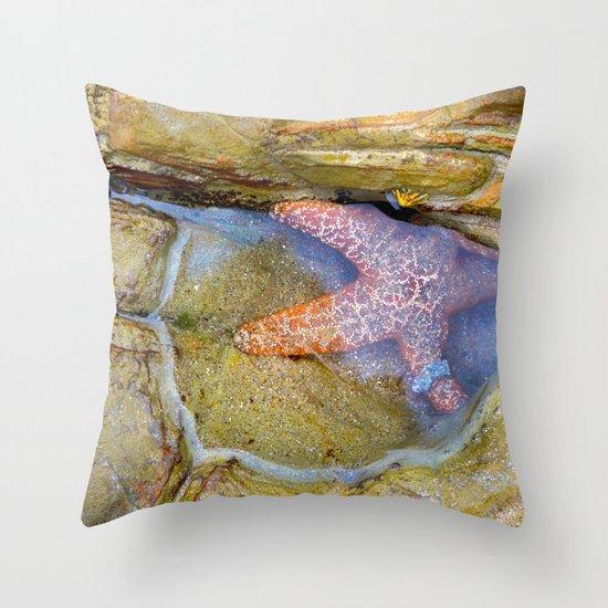 Tidepool Starfish Throw Pillow