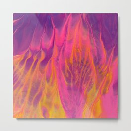 Candy Coated Gold Fire Abstract Painting Metal Print