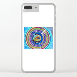 The divine impulse drips within you (Heartbeat of a thought) Clear iPhone Case