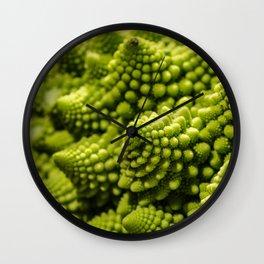 romanesco sprouts Wall Clock