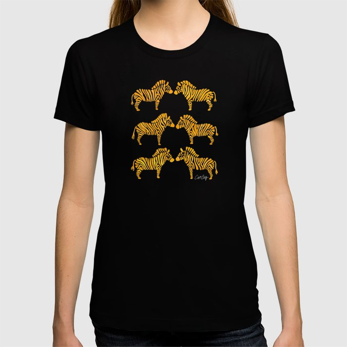 Zebras – Yellow Palette T-shirt