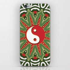 Red Yin Yang Sun Festive Mandala iPhone Skin