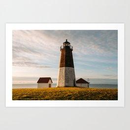 Sunrise at Point Judith Light Art Print