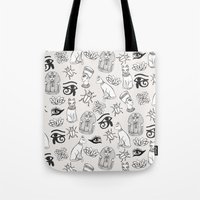 egyptian Tote Bags featuring Egyptian by Abby Galloway